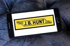 J B Logotipo de Hunt Transport Services Imágenes de archivo libres de regalías