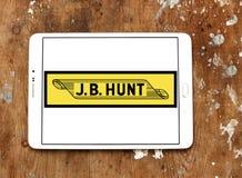 J B Logotipo de Hunt Transport Services Fotografía de archivo libre de regalías