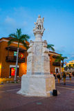 J.B. Maine Royt Historic Monument in Cartagena Stock Image