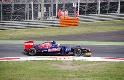 J.B. Vergne in de praktijkdag van Monza 2012. Stock Afbeelding