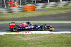 J.B. Vergne en jour de pratique en matière de Monza 2012. Photos libres de droits