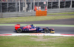 J. B. Vergne in Monza 2012 practice day. Stock Image