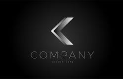 J black white silver letter logo design icon alphabet 3d Royalty Free Stock Photography
