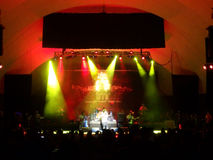 J Boog canta na fase no concerto de MayJah RayJah Imagens de Stock Royalty Free