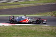 J. Bouton en jour de pratique en matière de Monza 2012. Images libres de droits
