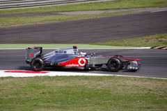 J. Button  in Monza 2012 practice day. Royalty Free Stock Images