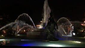 J C Nichols Pamiątkowa fontanna przy nocą zdjęcie wideo