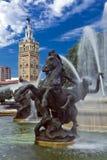 J.C. Particolare della fontana di Nichols Fotografie Stock
