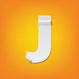 J capital letter fold english alphabet New design. The new design of the English alphabet, J capital letter was folded paper some of the letters. Adapted from Royalty Free Stock Images