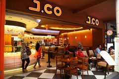 J.Co Donuts & Coffee Stock Photography