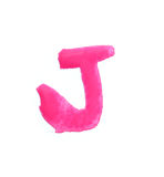 J - Color letters isolated over the white background. Stock Photos