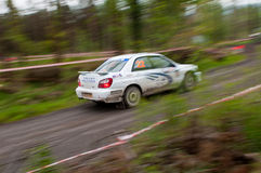 J. Connors driving Subaru Impreza Royalty Free Stock Image