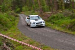 J. Connors que conduz Subaru Impreza Fotos de Stock