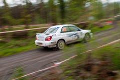 J. Connors que conduz Subaru Impreza Imagem de Stock Royalty Free
