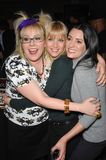 A. J. Cook,Paget Brewster,Kirsten Vangsness. Criminal Minds stars Kirsten Vangsness (left), A.J. Cook & Paget Brewster at party to celebrate the 100th episode of Royalty Free Stock Photography