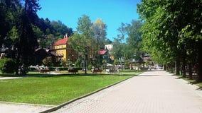 ³ j de Krynica-ZdrÃ, a pérola de termas poloneses, spa resort da saúde no Polônia Fotografia de Stock Royalty Free