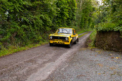 J. Deane driving Ford Escort Stock Image