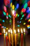 J?disches Feiertagssymbol Chanukka, das j?dische Festival von Lichtern stockbild