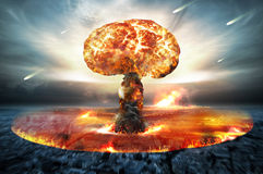 Jądrowa Atomowa wojna Fotografia Royalty Free