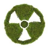 Jądrowy symbol od zielonego mech na bielu Fotografia Stock