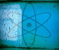 jądrowy szyldowy symbol Zdjęcia Stock