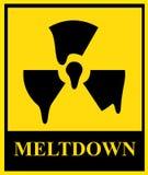jądrowy topnienie znak Zdjęcia Royalty Free