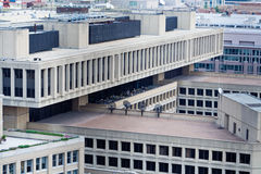 J Edgar Hoover FBI Building Above Washington DC. J Edgar Hoover FBI Building from above Royalty Free Stock Photography