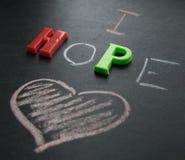 J'espère l'amour Photos libres de droits