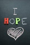 J'espère l'amour Photographie stock libre de droits