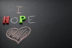 J'espère l'amour Image stock