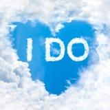 J'exprime sur le ciel bleu Photo libre de droits