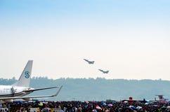 J-10 flight performance Stock Images
