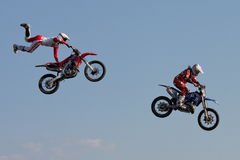 J. Grindrod and D. Wiggins, motocross riders Stock Photos