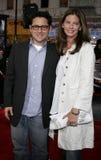 J.J. Abrams and Katie McGrath Stock Images