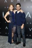 J J Abrams och Amy Adams Arkivbilder