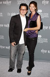 J J Abrams och Katie McGrath Royaltyfria Bilder