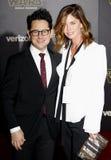 J J Abrams och Katie McGrath Royaltyfri Fotografi