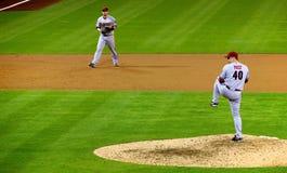 J.J. Putz pitching for the Diamondbacks Royalty Free Stock Photo