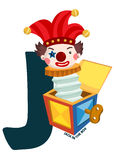 J For Jack In The Box Royalty Free Stock Photography