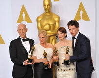 J.K. Simmons & Patricia Arquette & Julianne Moore  & Eddie Redmayne Royalty Free Stock Photography