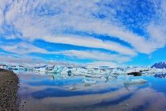 Jökulsárlón Glacial Lagoon in Iceland. Royalty Free Stock Photography