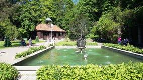 ³ j, la perla de balnearios polacos, balneario de Krynica-Zdrà de la salud en Polonia foto de archivo