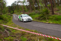 J. Laverty driving Mitsubishi Evo Royalty Free Stock Photo