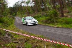 J. Laverty driving Mitsubishi Evo Royalty Free Stock Photo