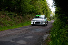 J. Laverty driving Mitsubishi Evo Stock Photography
