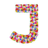 J,  letter of the alphabet in different flowers Royalty Free Stock Images