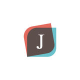 J letter icon retro logo design. Vintage company sign vector des Stock Photography