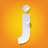 J lowercase letter fold english alphabet New design. The new design of the English alphabet, j Lowercase letter was folded paper some of the letters. Adapted royalty free illustration
