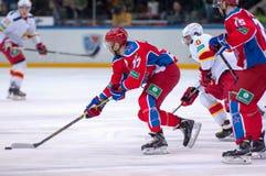 J Mursak (39) und P Virtanen (26) Stockfoto