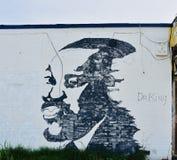 J?NIOR DE MLK Pintura mural pintado à mão imagem de stock
